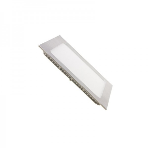 Downlight LED 16W Cuadrado Plata