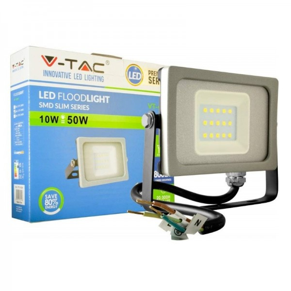 Proyector LED 10W SMD Gris-Negro