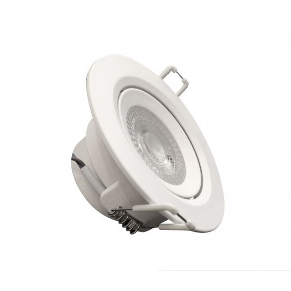 Downlight LED Basculante 7W Redondo Blanco