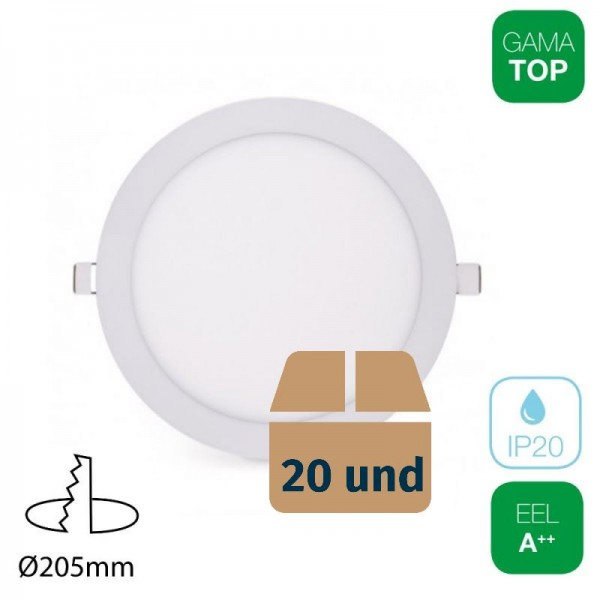 20x Downlight LED 18W Redondo Blanco