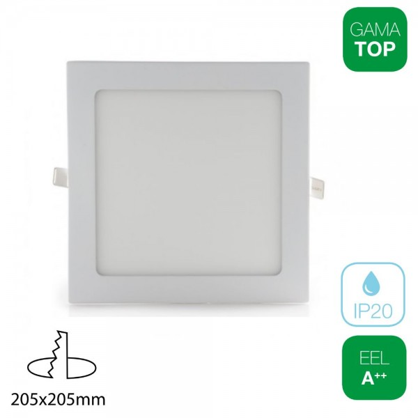 Downlight LED 18W Cuadrado Blanco