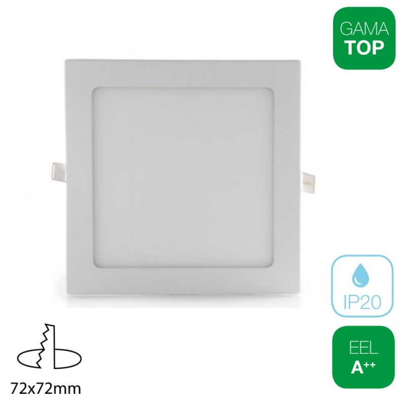 Downlight LED 4W Cuadrado Blanco