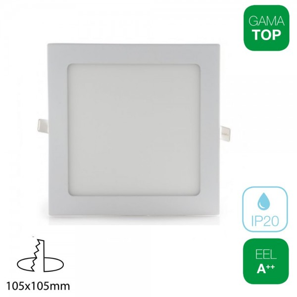 Downlight LED 7W Cuadrado Blanco