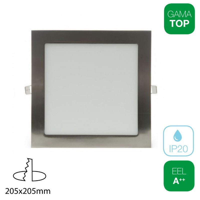 Downlight LED 18W Cuadrado Níquel