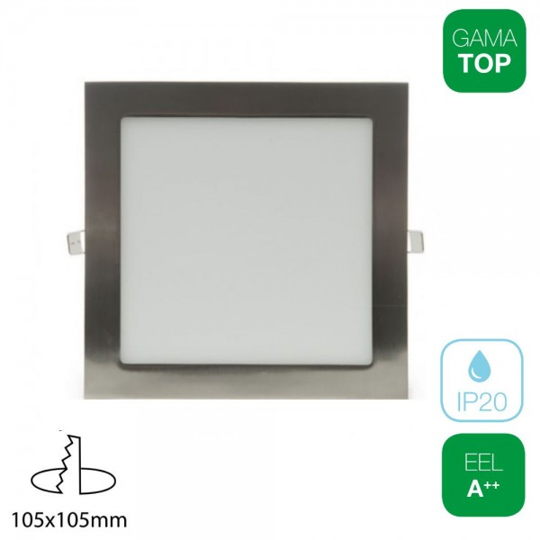 Downlight LED 7W Cuadrado Níquel