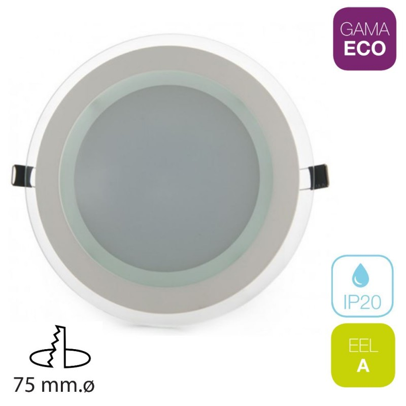 Downlight LED 7W Redondo Cristal