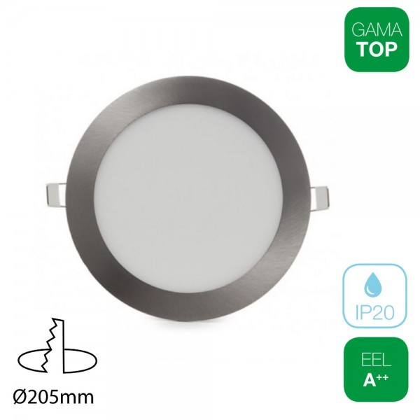Downlight LED 18W Redondo Níquel