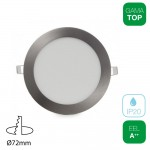 Downlight LED 4W Redondo Níquel