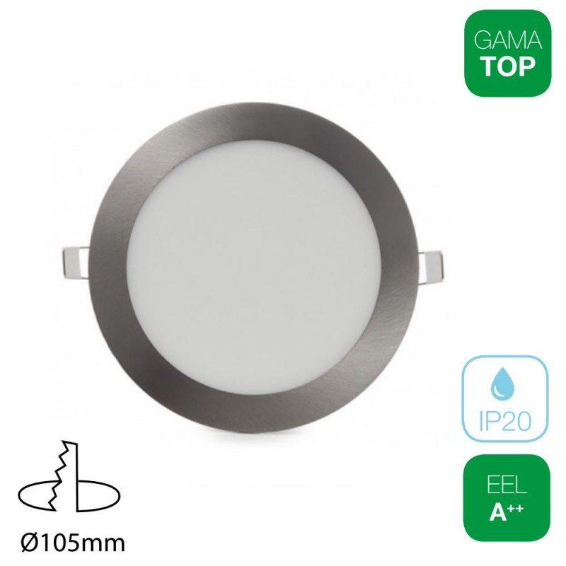 Downlight LED 7W Redondo Níquel