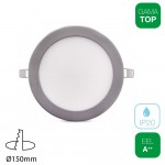 Downlight LED 13W Redondo Plata