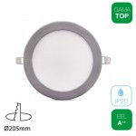Downlight LED 18W Redondo Plata
