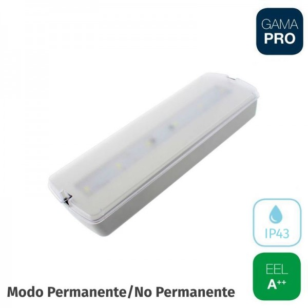 Emergencia LED 250lm 3w Superficie