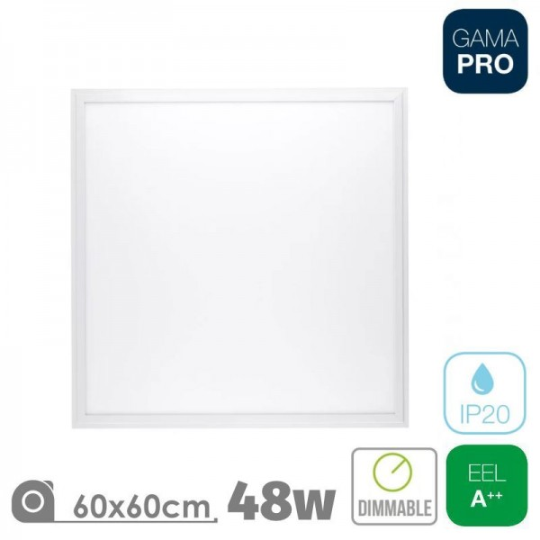 Panel LED 60x60 48W Triac Marco Blanco