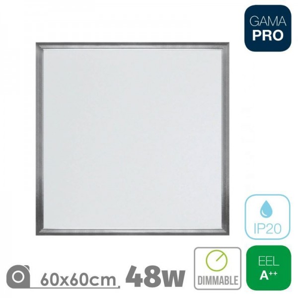 Panel LED 60x60 48W Triac Marco Níquel