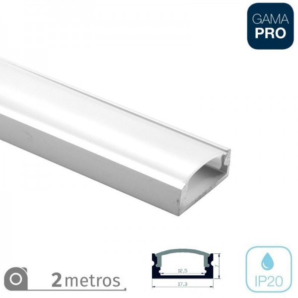 Perfil Superficie Tira LED 2Mt Opal