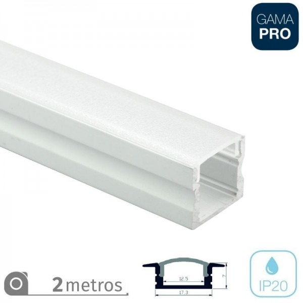Perfil Superficie Doble Tira LED 2Mt Opal
