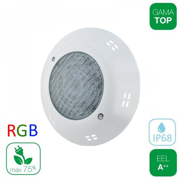 Lámpara LED Superficie Piscina PAR56 15W RGB