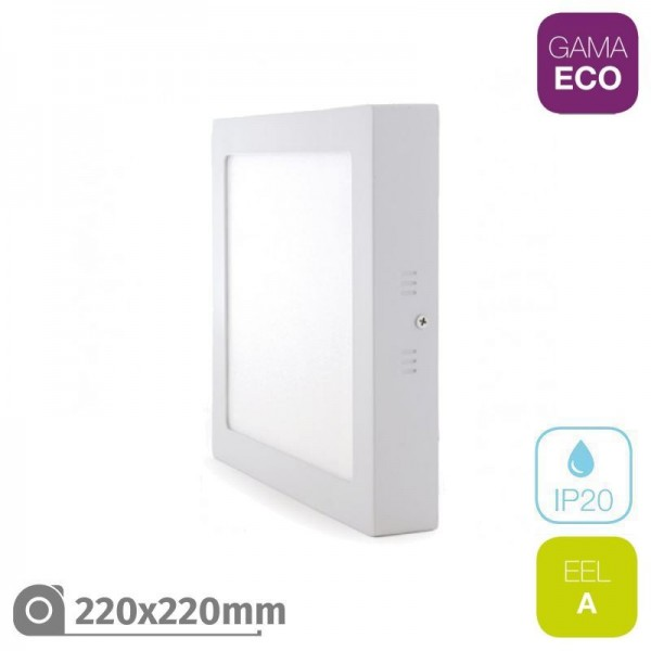 Plafón LED 25W Cuadrado Blanco ECO