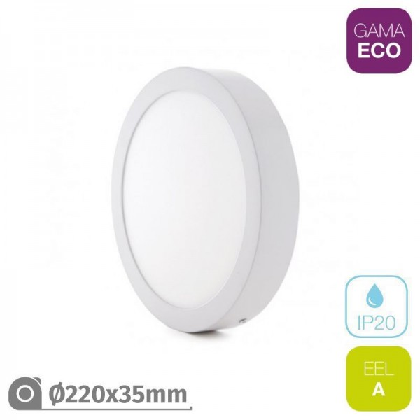 Plafón LED 25W Redondo Blanco ECO